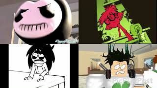 Malk bendy vs Loud house vs slender man vs ROBLOX