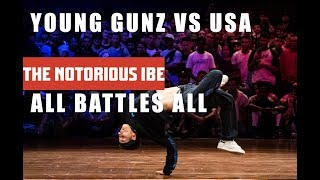 YOUNG GUNZ VS TEAM USA    ALL BATTLES ALL 2018   THE NOTORIOUS IBE 2018