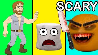 Scared Marshmallow with Evil Annoying Orange & Chuck Norris (Parody)