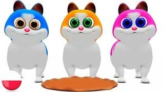 Trzy Małe Kocięta | Rymowanek Dla Dzieci | Kołysanki | Przedszkolnym Piosenki | Three Little Kitten