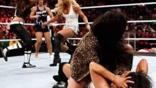 WWE Superstars: Trish Stratus vs. Vickie Guerrero on Raw