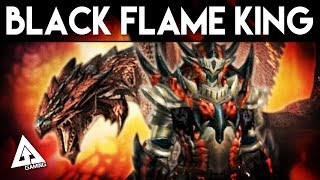 Monster Hunter Generations Black Flame King Rathalos Armor & Weapon Showcase