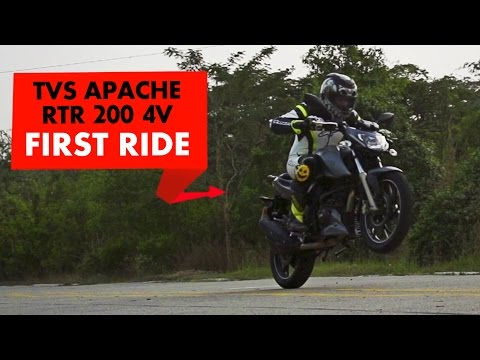 New TVS Apache RTR 200 4V : First Impressions : PowerDrift