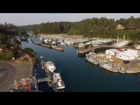West Coast Harbor: Fort Bragg - Aerial shots of time warp town - marina