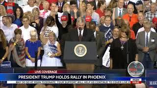Rev. Franklin Graham AMAZING Prayer for Unity at President Trump Rally in Phoenix