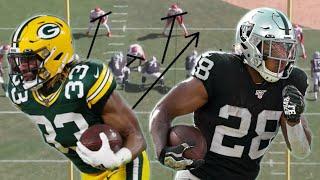 Film Study: Who's Better? Aaron Jones or Josh Jacobs?  Green Bay Packers/Las Vegas Raiders Breakdown