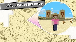 Can You Beat Minecraft On A DESERT ONLY World?