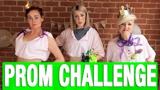 PROM CHALLENGE ft. HANNAH & MAMRIE // Grace Helbig