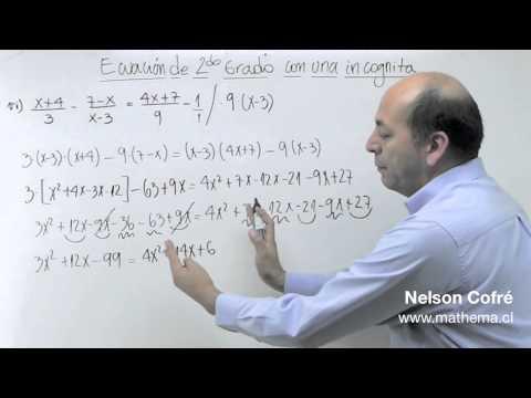 Ecuacion de 2º grado 5