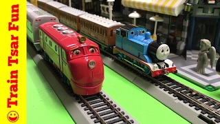 Thomas vs Wilson   Chuggington vs Sodor Trains - Bachmann HO Scale