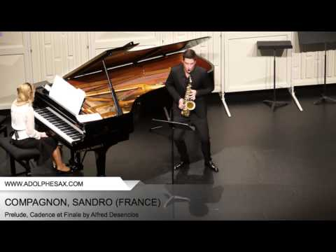 Dinant 2014 - COMPAGNON, Sandro (Prelude, Cadence et Finale by Alfred Desenclos)