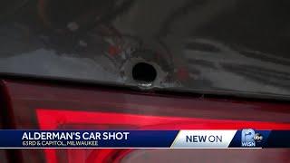 Milwaukee alderman's car hit by gunfire