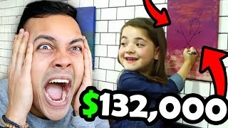 little girl DESTROYS PRICELESS PAINTING !!! (Reacting To What Would You Do)