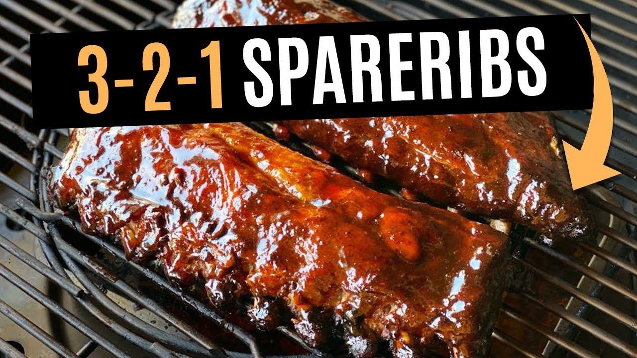 3-2-1 spareribs van de BBQ