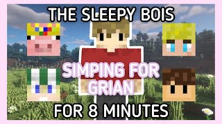 The sleepy bois simping for Grian for 8 minutes