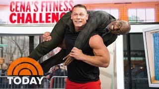 John Cena Demonstrates Quick Fitness Moves And Hoists Al Roker! | TODAY