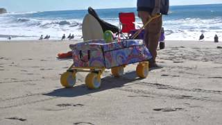 Creative Outdoors All-Terrain Folding Wagon with Divider on QVC