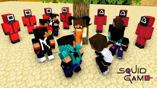 Pro Squid Game Herobrine Brothers Players be like - Monster School Minecraft Animation