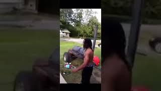 Black drunk guy gets knocked out