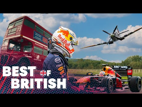 Red Bull Racing and Max Verstappen take on the Best of British including a Spitfire!