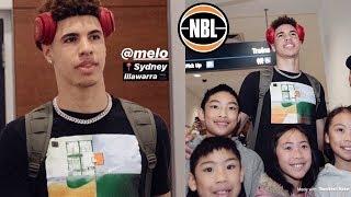 LaMelo Ball ARRIVES OVERSEAS IN AUSTRALIA..   Illawarra Hawks, NBL