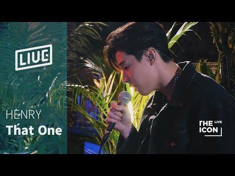 [The ICON LIVE] HENRY 헨리_That One(piano Ver.)