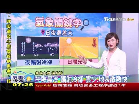 午熱晨冷 輻射冷卻「雲少、地表散熱快」