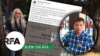 Điểm tin RFA | Blogger Trương Duy Nhất không được nhận đồ tiếp tế từ gia đình