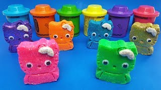 Learn Colors with Glitter Hello Kitty out of Play Doh | Making Sea Animals| Learn numbers | For Kids