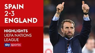 Spain 2-3 England   Highlights   UEFA Nations League