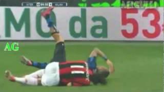 Ibrahimovic Kung Fu Kick Materazzi Inter 0-1 Milan
