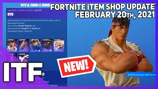 Fortnite Item Shop *NEW* STREET FIGHTER BUNDLES! [February 20th, 2021] (Fortnite Battle Royale)