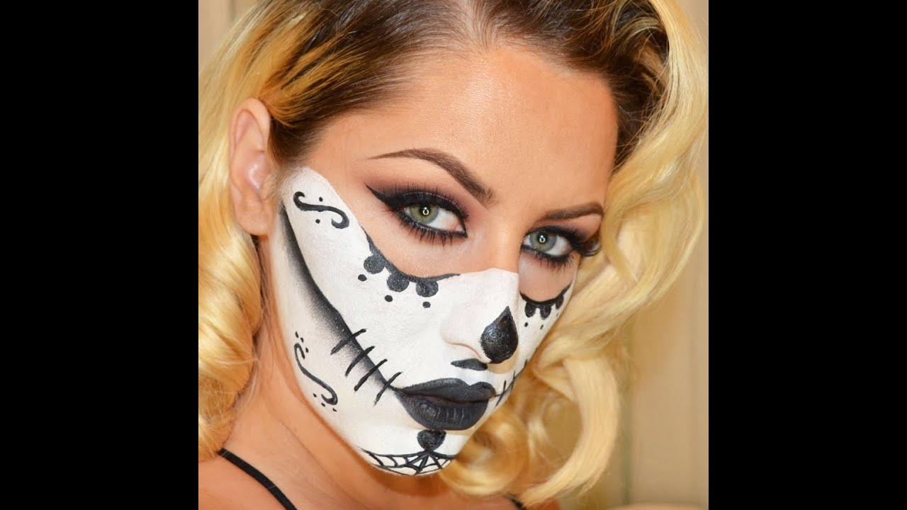 Halloween Look: Sugar Skull Makeup Tutorial - YouTube