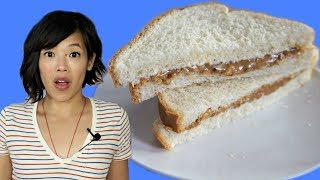 Depression Era PEANUT BUTTER + MAYO Sandwich (Pickle & Onion, too) | HARD TIMES