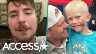 Boy Who Saved Sister From Dog Gets Surprise From MrBeast