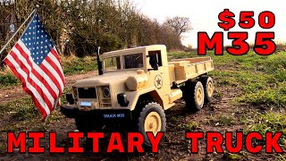 M35 US 6x6 RC Truck. Running review. MZ YY2003 Banggood budget 6wd rc truck review