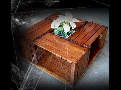 Tavolino con 4 cassette in legno tutorial musica movil for Come costruire i miei piani di casa
