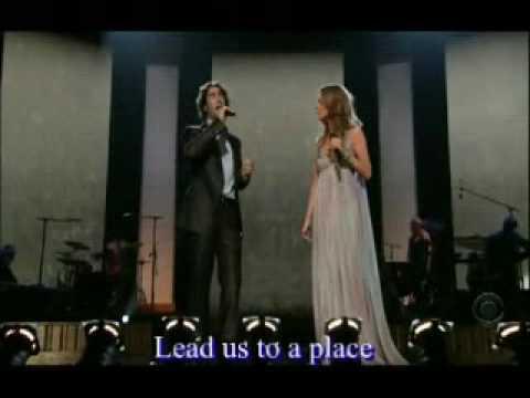 Celine Dion & Josh Groban live 'The Prayer' [with lyrics]