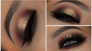 Gold & Black Halo Smokey Eyes | Amys Makeup Box
