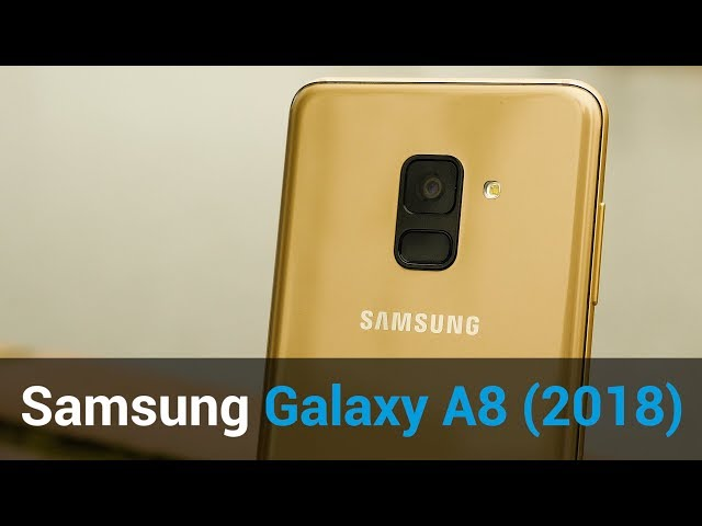 Belsimpel-productvideo voor de Samsung Galaxy A8 (2018) A530 Duos Gold