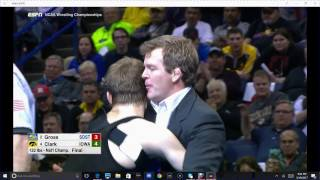 Cory Clark vs Seth Gross 133lb NCAA National Final Throws Terry Brands