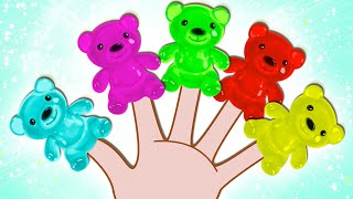 Gummy Bear Finger Family | Learn Colors with Surprise Eggs | Nursery Rhymes on HooplaKidz EP 16