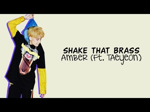 AMBER (ft. TAEYEON of Girls' Generation) - SHAKE THAT BRASS Color Coded Lyrics [Rom/Eng/Han] 1080p