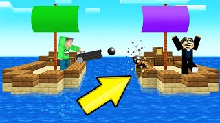 Playing SHIP WARS In MINECRAFT! (Battle)