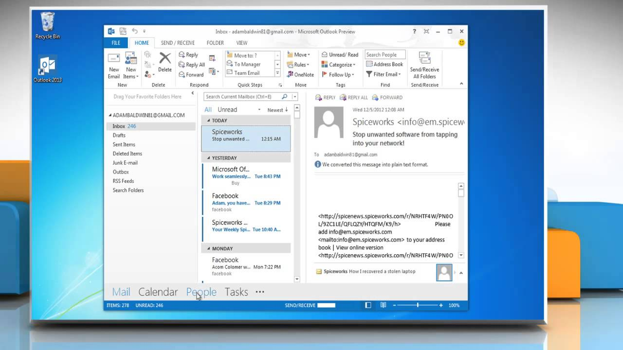 Change Image for a Contact in Microsoft® Outlook 2013 in Windows® 7 - YouTube