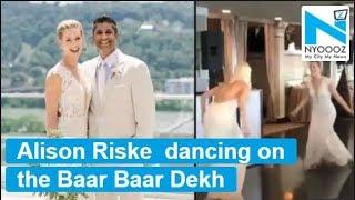 American Tennis player Alison Riske dances to Bollywood so..