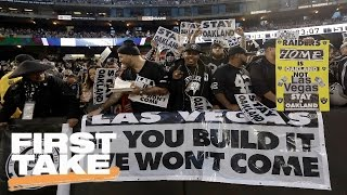 Stephen A. Blames Politicians For Raiders Move to Las Vegas | First Take | March 28, 2017