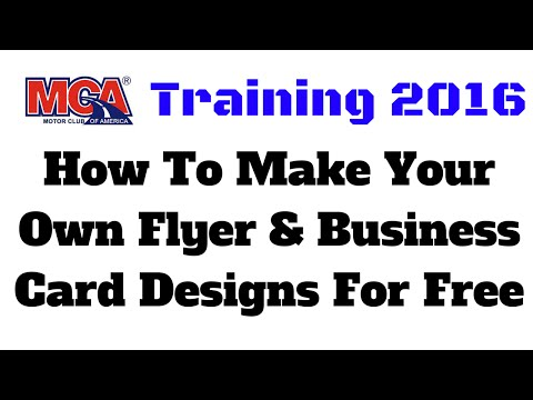 Mca training 2016 how to make your own flyer business for How to make your own business cards free
