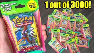 1 out of 3000 PACKS HAS CHASE BASE SET POKEMON CARDS! New Dollar General Opening