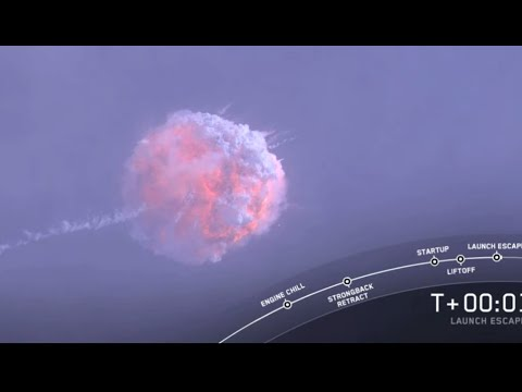 Watch a SpaceX rocket blow up during abort test